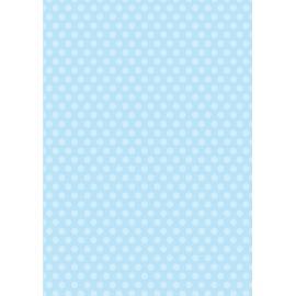 Дизайнерска хартия, А4 - Средни точки, синьо 1