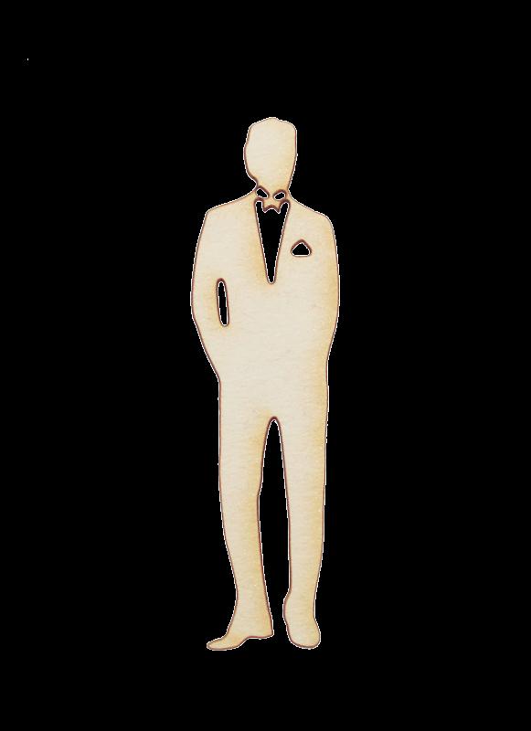 Бирен картон - силует мъж