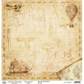 Дизайнерска хартия, лист - Around the world 2