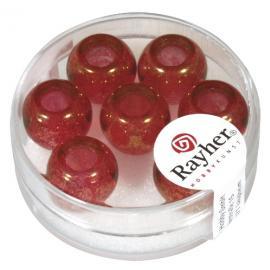 Стъклени мъниста 12мм-червени