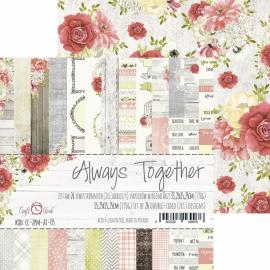Дизайнерска хартия, блокче 6х6 - Always Together