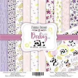 Дизайнерска хартия, блокче My little babygirl 8x8 инча