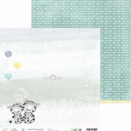 Дизайнерска хартия, 12x12 - My Cat Friend 1