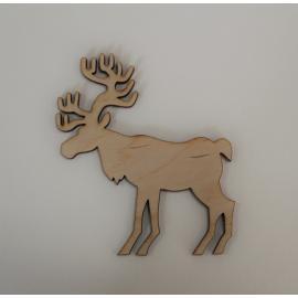 Дървено еленче 9,5х10 см