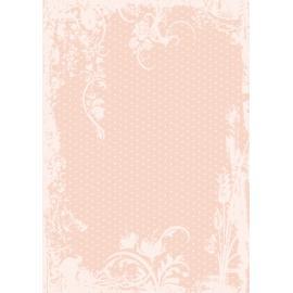 Дизайнерска хартия, А4 - Точки с орнаменти, праскова 9