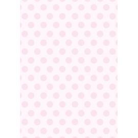Дизайнерска хартия, А4 - Големи точки, розово 2