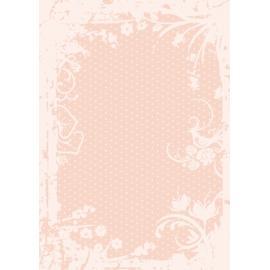 Дизайнерска хартия, А4 - Точки с орнаменти, праскова 8