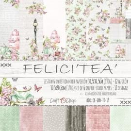 """""""Дизайнерска хартия, блокче 12x12 - Felici""""""""tea"""""""""""""""