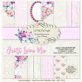 Дизайнерска хартия, блокчe - Just love me 12х12 инча