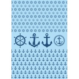 Дизайнерска хартия, А4 - Морски спомени 12