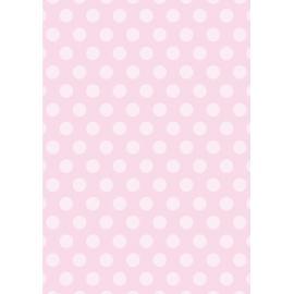 Дизайнерска хартия, А4 - Големи точки, розово 1