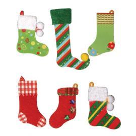 Стикери - коледни чорапчета