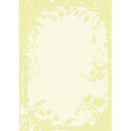 Дизайнерска хартия, А4 - Точки с орнаменти, лайм 3