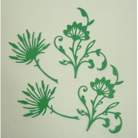 Хартиени елементи - клонки с цветчета