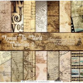 Дизайнерска хартия, блокче 12х12 инча - Around The World Collection 2