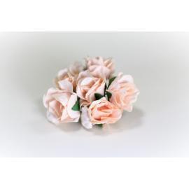Хартиени цветя 25 мм, 6 бр, праскова