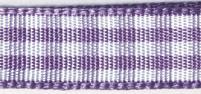 Карирана панделка - лилава