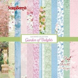 Дизайнерска хартия, блокчe - Garden of Delights 6x6 инча