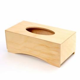 Дървена кутия за салфетки