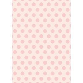 Дизайнерска хартия, А4 - Големи точки, пудра 2