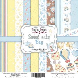 Дизайнерска хартия, блокче Sweet baby boy 8x8 инча
