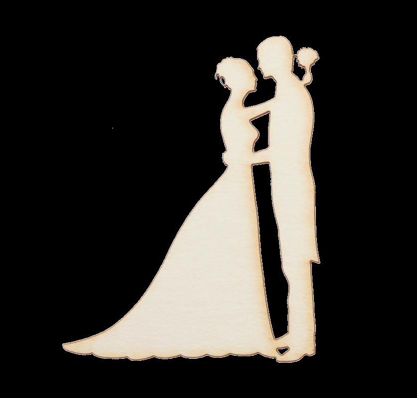 Бирен картон - силуети младоженци танц