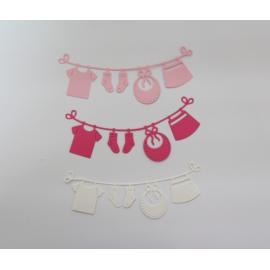 Хартиени елементи - просторче, розово и бяло