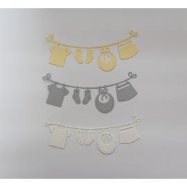 Хартиени елементи - просторче, бяло, сиво, бледо жълто