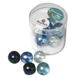 Перли14 мм,микс-сини