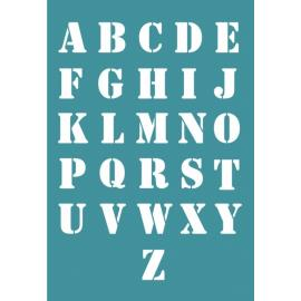 Шаблон за декупаж - букви латиница