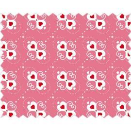 Tante Ema -розово платче със сърчица