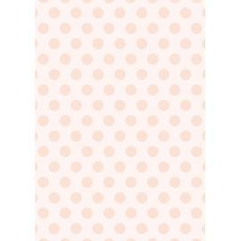 Дизайнерска хартия, А4 - Големи точки, праскова 2