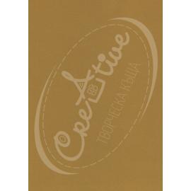 Релефен картон - медено кафяв