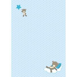 Дизайнерска хартия, А4 - бебе мече на възглавничка