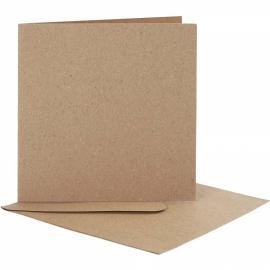 Основа за картичка с плик, 12,5х12,5