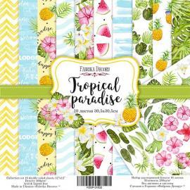 Дизайнерска хартия, блокче Tropical paradise 12x12 инча