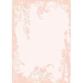 Дизайнерска хартия, А4 - Точки с орнаменти, праскова 4