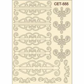 Бирен картон - сет 555 орнаменти