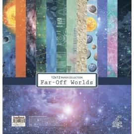 Дизайнерска хартия,12x12 инча, Far-Off Worlds
