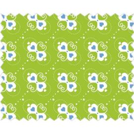 Tante Ema -зелено платче със сърчица