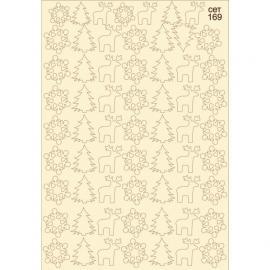 Бирен картон - сет 169 Еленче,елха, снежинка