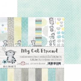 Дизайнерска хартия, блокчe - My cat friends, 6x6 инча