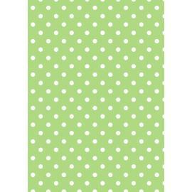 Tante Ema-памучен плат с точки,зелено