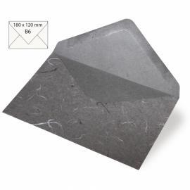 Японска хартия, плик, тъмносиво