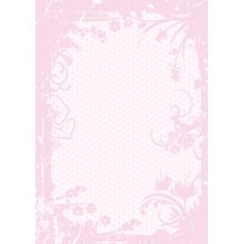 Дизайнерска хартия, А4 - Точки с орнаменти, розово 3
