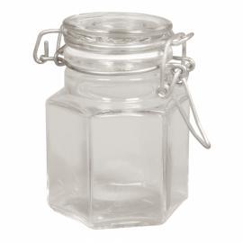Стъклено бурканче-шестоъгълно