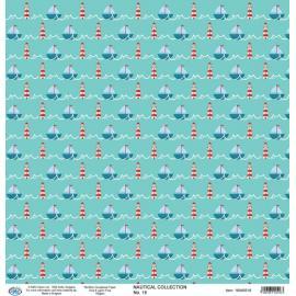 Дизайнерска хартия, лист морски 16