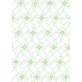 Tante Ema - Бяло платче със зелени орнаменти