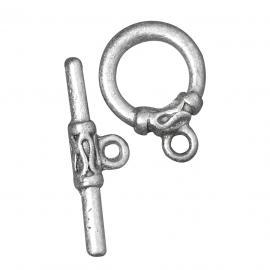 Закопчалка,пръчица-тъмно сребро25мм