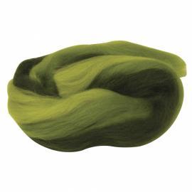Суперфино мерино,меланж-зелено